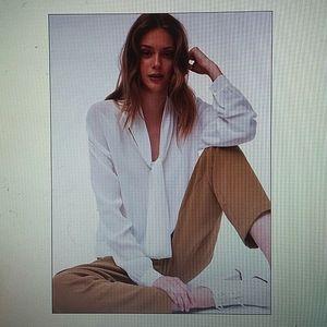 ARITZIA WILFRED - cream Perle blouse